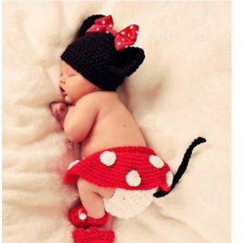 Photography Prop Baby Costume Cute Crochet Knitted Cap