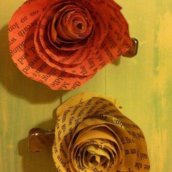 Watercolor Paper Flower Clips