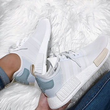 """Adidas"" NMD Trending Fashion Casual Sports Shoes white Mint green"