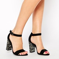 New Look Teach Embellished Heel Sandals