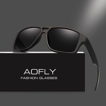 AOFLY Polarized Sunglasses Mens Cool Vintage Brand Design Male Sunglasses Polaroid lenses Goggles Shades Oculos Masculino AF8030