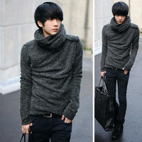 Mens Baggy Turtleneck Sweater
