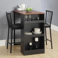 Latitude Run Loftus 3 Piece Counter Height Pub Table Set & Reviews | Wayfair