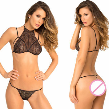 Hot Deal Cute On Sale Black Lace Sexy Bikini Exotic Lingerie [11407009807]