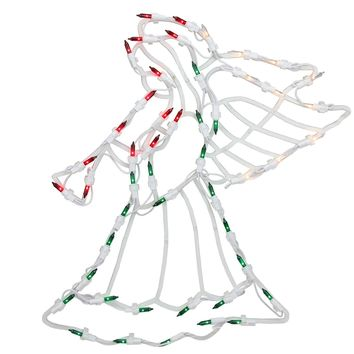 "18"" Lighted Angel Christmas Window Silhouette Decoration (Pack of 4)"