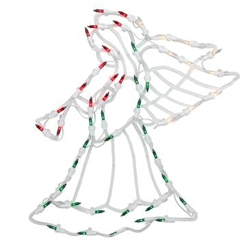 "18"" Lighted Angel Christmas Window Silhouette Decoration"