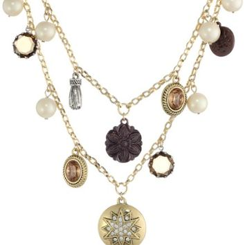 """Carolee """"Brown Eyed Girl"""" Charm Necklace, 18"""""""