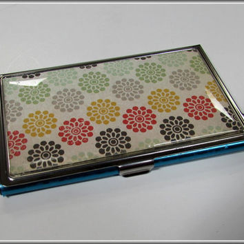 Business Card Holder Case Cute Flowers