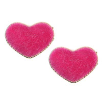 FUZZY HEART EARRINGS