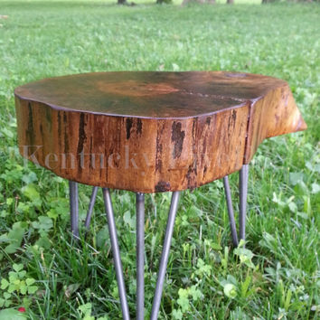 Plant Stand- Log Table- Tree Stump- End Table- Drink Stand- Side Table- Wood Stool- Eco Friendly- Live Edge Furniture- Display Table- Tree
