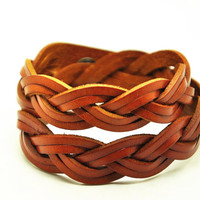 Wrap Bangle Bracelet,Real Leather Bracelet  Women Leather Bangle Bracelet ,Girl Bracelet men Leather Bangle CB15
