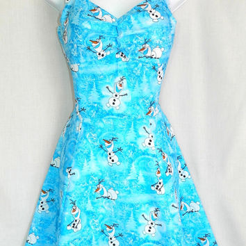 Sale. Frozen Olaf dress.