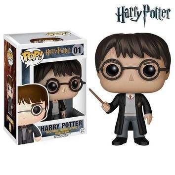 Funko - POP Harry Potter Figure Dobby Ron Hermione Severus Magic Wand a Promoti