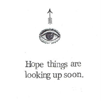 Hope Things Are Looking Up Soon Eye And Arrow Card | Weird Simple Minimalist Funny Get Well Soon Card