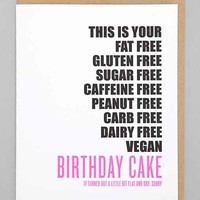 Richie Designs Gluten-Free Cake Card- Assorted One
