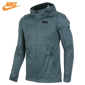 Nike Men's Kobe Blazer Sport Knit Breathable Jacket Hooded Coat Grey Green 824394-392