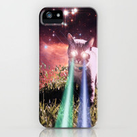Mega Space Cat Rising iPhone Case by Hayley Sargent | Society6