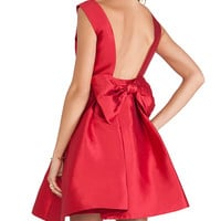 Kate Spade New York Backless Bow Mini Dress in Red