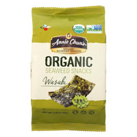 Annie Chun's Organic Seaweed Snacks Wasabi - Case of 12 - 0.35 oz.