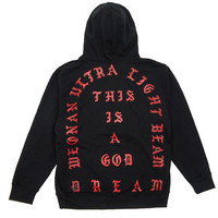 I Feel like Pablo Yeezy MSG Kanye West Sweater The Real Life of Pablo Heather Cardinal Black Hoodie