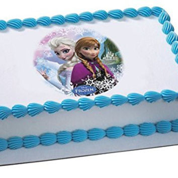 Whimsical Practicality Frozen Sisters Edible Cake Topper for Cakes Cookies and Cupcakes