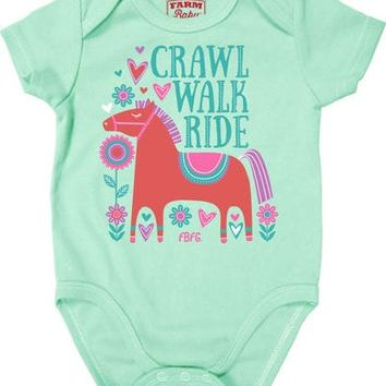 Farm Girl Infant Girls' Crawl Walk Ride Creeper