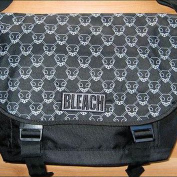 Bleach Substitue Reaper Shinigami Skull Pattern School Messenger Book Bag BLACK
