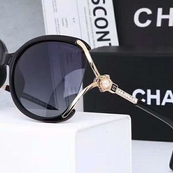 Chanel Women Trending Popular Summer Sun Shades Eyeglasses Glasses Sunglasses Black G-A-SDYJ