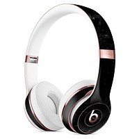 Slate Black Scratched Marble Surface Full-Body Skin Kit for the Beats by Dre Solo 3 Wireless Headphones