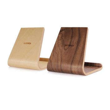 Portable Birch Wooden Phone Tablet Stand Holder Dock Station Cradle for iPhone10 8 7 Plus iPad mini 4 Air Samsung S8 edge