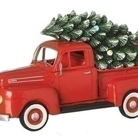 "Musical 1948 Ford Truck 10.25"" with LED headlights/lighted Tree-130508"