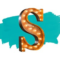 """24"""" Letter S Lighted Vintage Marquee Letters (Rustic)"""