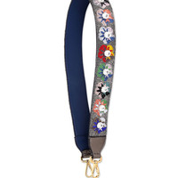 Beaded Flower Shoulder Strap for Handbag, Multi