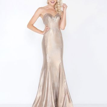 Mac Duggal - 66491M Shiny Strapless Fold-Over Sweetheart Mermaid Gown