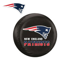New England Patriots NFL Spare Tire Cover and Grille Logo Set (Large)