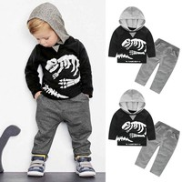 Dinosaur Bones Hooded Top + Pants Set