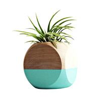 Cube Planter in Teal