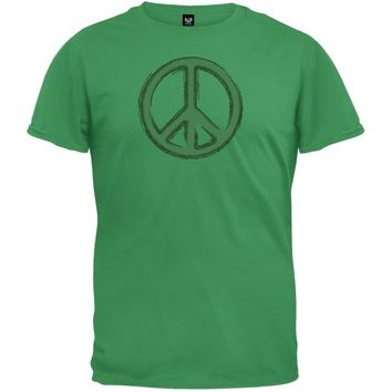 Peace Sign Irish Green T-Shirt