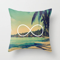 Forever Summer Vintage Beach Infinity Throw Pillow by RexLambo | Society6