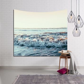 2017 Beauty 3D Ocean Wave Printed Tapestry Beach Towels Modern Style Yoga Mat Home Decor Table Cloth Wall Hanging Rugs Blanket