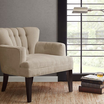 Avenue Upholstered Cream Living Room Chair