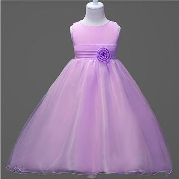 purple wedding dresses for little girl rose petals flower girls dresses bridesmaid princess dress ballgown