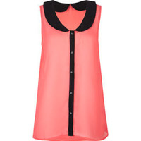 Peter Pan Collar Womens Chiffon Top 202188313 | Blouses & Shirts | Tillys.com