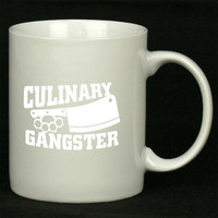 Culinary Gangster Chef prep Cook food For Ceramic Mugs Coffee *