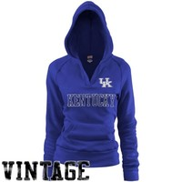 Kentucky Wildcats Ladies Royal Blue Rugby Vintage Hoodie Sweatshirt