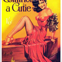 Coffin for a Cutie 11x17 Retro Book Cover Poster