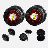 Black Acrylic  flash  Plugs,fake Gauges,UV Acrylic  plugs,plugs gauges