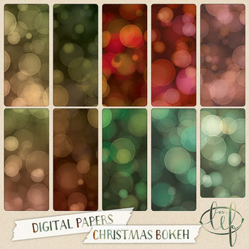 Christmas Bokeh Digital Paper Pack Bright, soft and gradients. Perfect for festive desktop and blog backgrounds Facebook and twitter headers