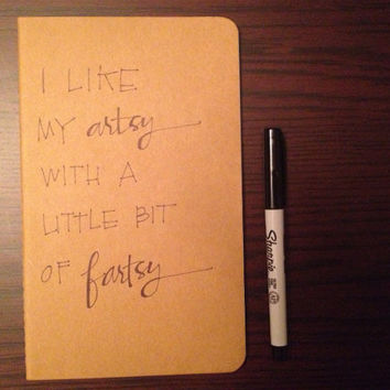 Handwritten Kraft Moleskine Notebook