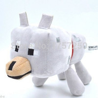 2015 New 22cm Minecraft Wolf Plush Toys High Quality Minecraft Wolf Plush Dolls Stuffed Animals Toys Kids Toys Birthday Gifts